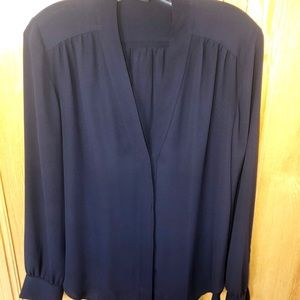 Ann Taylor elegant dark navy blouse. Size Medium